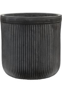 Кашпо vertical rib cylinder anthracite d30 h31 см