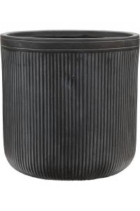 Кашпо vertical rib cylinder anthracite d40 h40 см