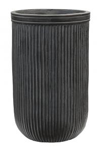 Кашпо vertical rib cylinder anthracite d30 h47 см