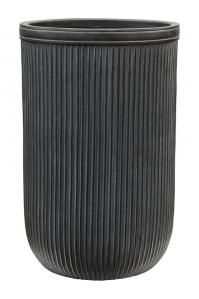 Кашпо vertical rib cylinder anthracite d37 h57 см