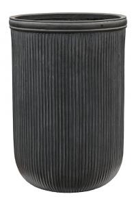 Кашпо vertical rib cylinder anthracite d45 h65 см