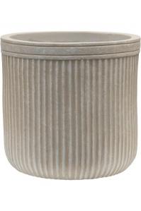 Кашпо vertical rib cylinder beige d23 h24 см