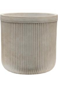 Кашпо vertical rib cylinder beige d30 h31 см