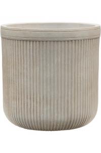 Кашпо vertical rib cylinder beige d40 h40 см