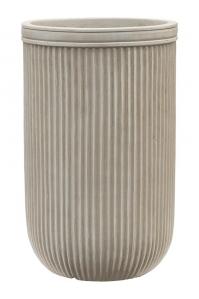 Кашпо vertical rib cylinder beige d30 h47 см