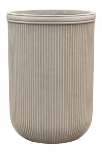 Кашпо vertical rib cylinder beige d45 h65 см