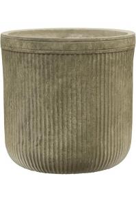 Кашпо vertical rib cylinder green d30 h31 см