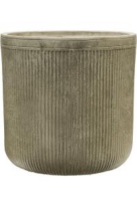 Кашпо vertical rib cylinder green d40 h40 см
