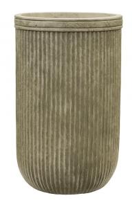 Кашпо vertical rib cylinder green d30 h47 см
