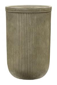 Кашпо vertical rib cylinder green d37 h57 см