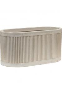 Кашпо vertical rib oval beige l44 w22 h22 см