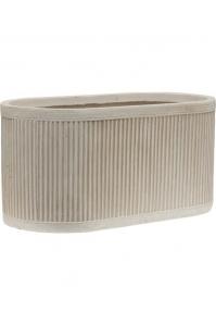 Кашпо vertical rib oval beige l50 w28 h25 см