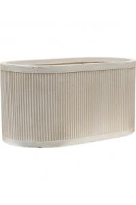 Кашпо vertical rib oval beige l60 w34 h31 см