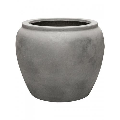 Кашпо waterjar round grey d65 h53 см
