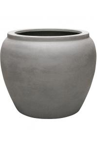 Кашпо waterjar round grey d80 h65 см