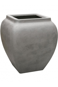 Кашпо waterjar square high grey l65 w65 h75 см