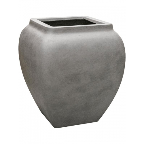 Кашпо waterjar square high grey l65 w65 h75 см