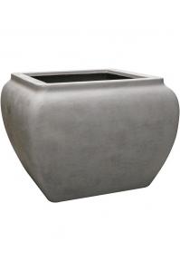 Кашпо waterjar square grey l100 w100 h75 см