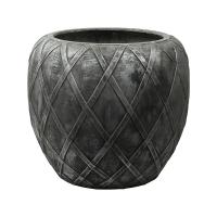 Кашпо wire (grc) emperor silver grey d55 h50 см