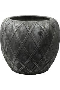 Кашпо wire (grc) emperor silver grey d73 h66 см