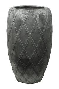 Кашпо wire (grc) emperor silver grey d55 h90 см