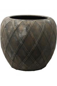 Кашпо wire (grc) emperor copper grey d73 h66 см