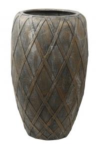 Кашпо wire (grc) emperor copper grey d55 h90 см