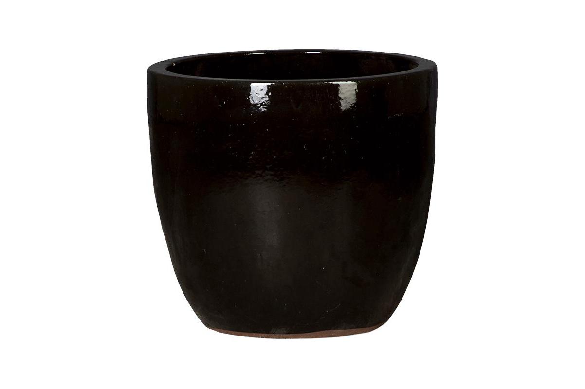 Кашпо black shiny couple d53 h49 см
