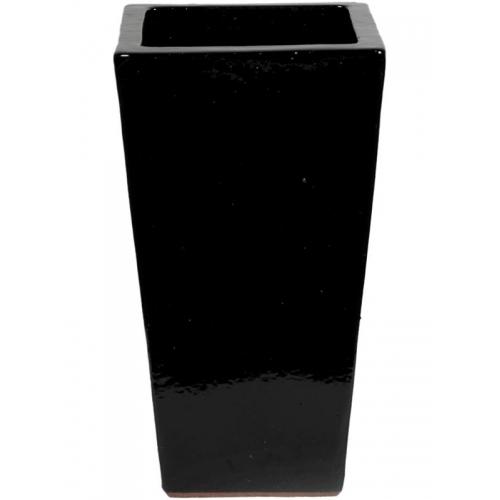 Кашпо black shiny kubis l33 w33 h60 см
