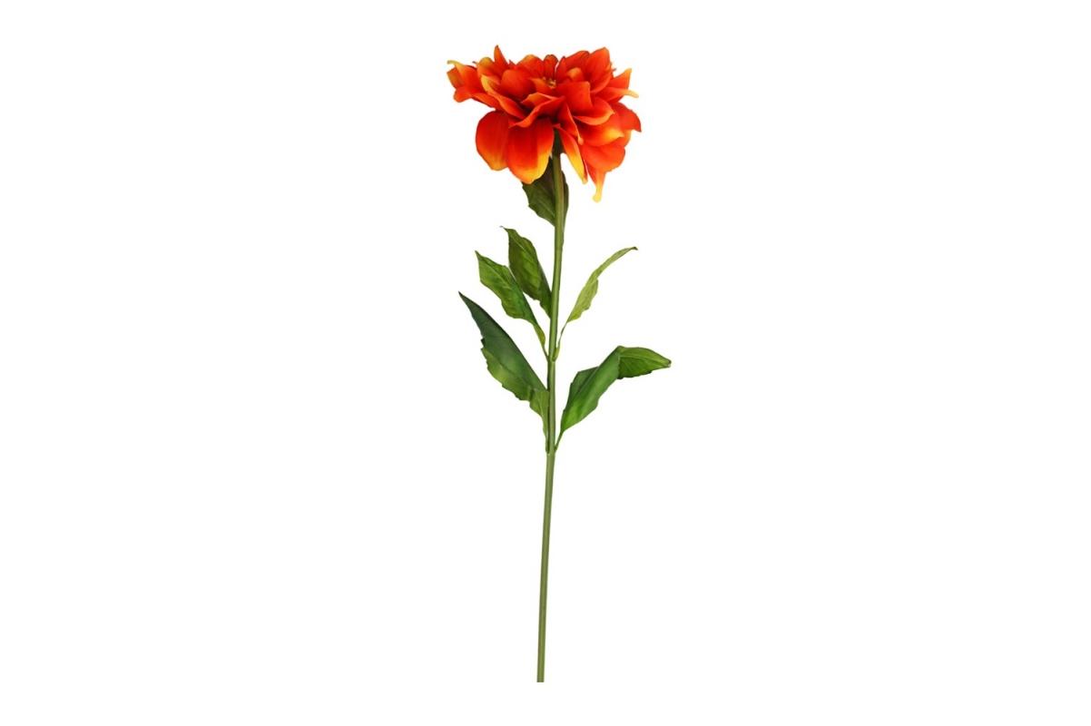 Георгин искусственный красно-желтый 68 см