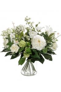 Букет искусственный white dream 20 ветвей (без вазы) d50 h60 см