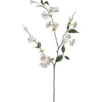 Персиковая ветвь с белыми цветами искусственная h80 см