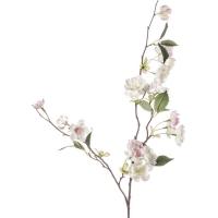 Персиковая ветвь с бело-розовыми цветами искусственная h80 см