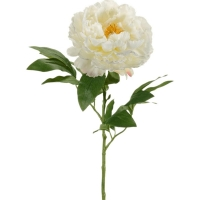 Пион ветвь белая искусственный h65 см