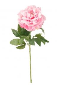 Пион ветвь розовая искусственный h65 см