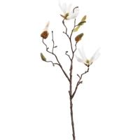 Магнолия ветвь с белыми цветами искусственная h42 см