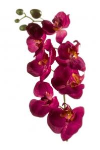 Орхидея фаленопсис ветвь бургунди искусственная h68 см