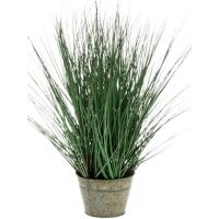 Дикая трава в цинковом горшке искусственная h50 см
