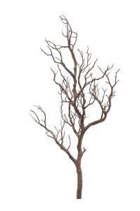 Ветка натуральная коричневая искусственная h75 см