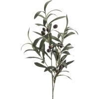 Ветка оливы зелёная искусственная h75 см