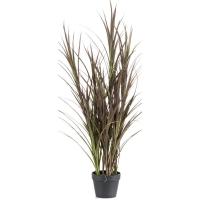 Трава бургунди в горшке искусственная uv-resistant h115 см