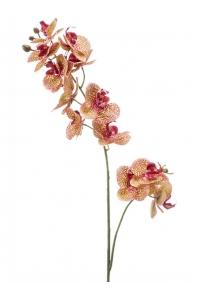 Орхидея фаленопсис двойная ветвь персиковая realrouch искусственная h80 см