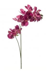 Орхидея фаленопсис двойная ветвь фиолетовая realrouch искусственная h80 см