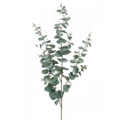 Ветка эвкалипта серо-зелёная искусственная h115 см