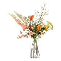 Букет искусственный xl happy orange 12 ветвей (без вазы) h110 см