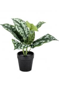 Сциндапсус куст в горшке зелено-серый искусственный h180 см