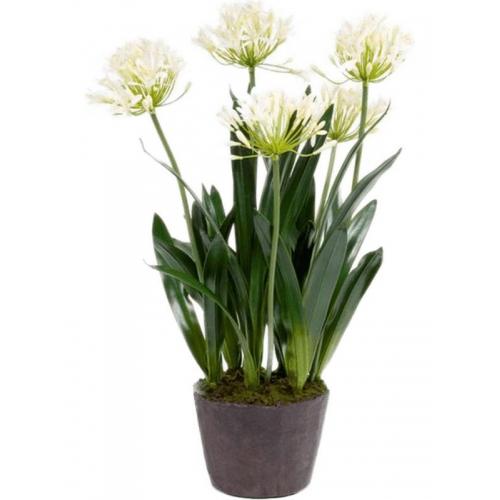 Агапантус белый искусственный h75 см