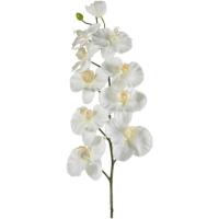 Орхидея фаленопсис ветвь белая искусственная h100 см