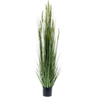 Трава с колосками зелёная высокая искусственная h150 d16 см