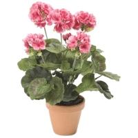 Герань куст розовый искусственный h35 см
